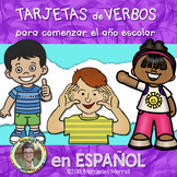 TARJETAS de VERBOS Para Comenzar el Año Escolar en ESPAÑOL Gr. 2-5