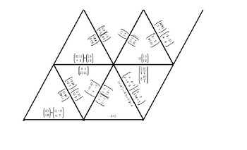TARSIA PUZZLE - Adding, subtracting and solving equal Matrices