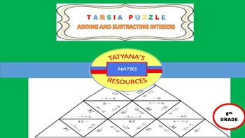 TARSIA PUZZLE - Adding and Subtracting Integers