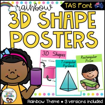 TAS Font 3D Shape Posters {Rainbow Theme}
