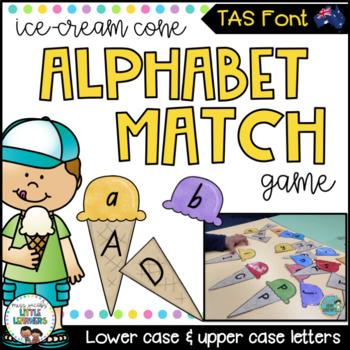 TAS Font Alphabet Match Ice Cream Game