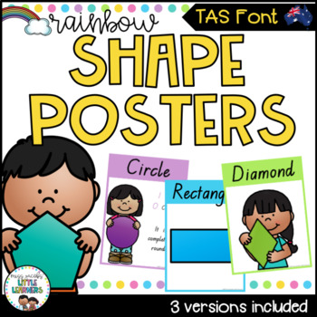 TAS Font Shape Posters {Rainbow Theme}