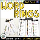TAS Font Word Rings - Writing Tool