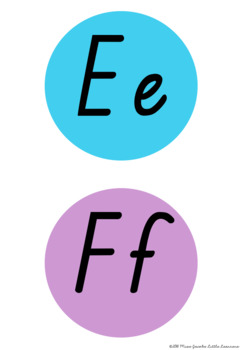 TAS Font Word Wall Alphabet Headers {Rainbow Theme}