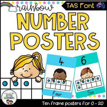 TAS Number Posters {Rainbow Theme}
