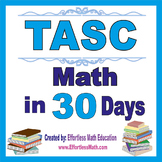 TASC Math in 30 Days + 2 full-length TASC Math practice tests