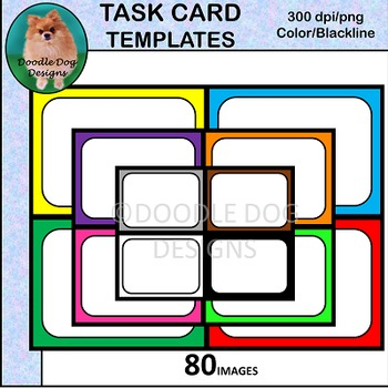 TASK CARD TEMPLATES, GAME CARDS