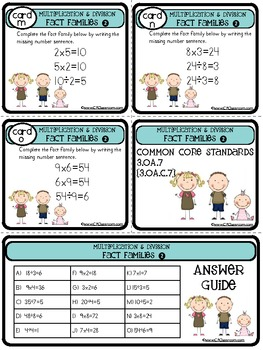 TASK CARDS: 3.OA.7 SET 2 {math: multiplication and division}