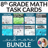 8th Grade TASK CARDS BUNDLE! Over a 20% savings!!
