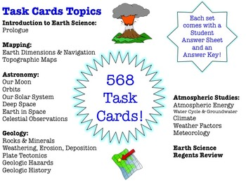 TASK CARDS *EDITABLE BUNDLE* - Earth Science