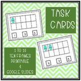 TASK CARDS COUNTING 1 TO 10 TEN FRAME PRINTABLE & GOOGLE SLIDES