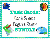 TASK CARDS - Earth Science Regents Review *EDITABLE!*
