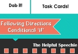 TASK CARDS  Following Conditional Instructions with 'if'