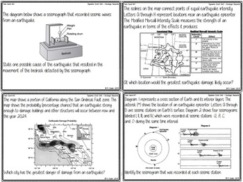 TASK CARDS - Geologic Hazards