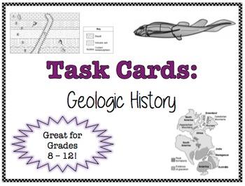 TASK CARDS - Geologic History *FREEBIE!*
