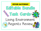 TASK CARDS - Living Environment Regents Review *EDITABLE BUNDLE*