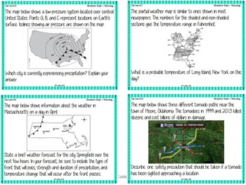 TASK CARDS - Meteorology