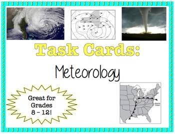 TASK CARDS - Meteorology