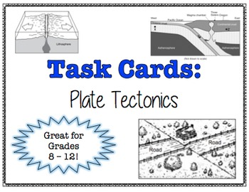 TASK CARDS - Plate Tectonics