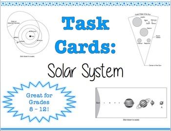 TASK CARDS - Solar System