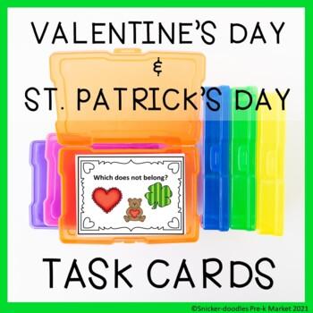 TASK CARDS VALENTINES DAY, ST. PATRICK'S & GROUND HOG DAY