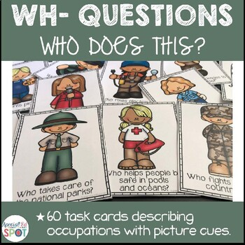 TASK CARDS: WHO QUESTION CARDS