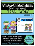 TASK CARDS: WINTER SUBTRACTION WITH REGROUPING