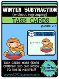 TASK CARDS: WINTER SUBTRACTION WITHOUT REGROUPING