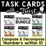Task Cards With A Twist: Compose Decompose to 10 YEARLONG