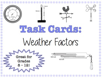 TASK CARDS - Weather Factors