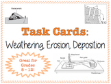 TASK CARDS - Weathering, Erosion, Deposition