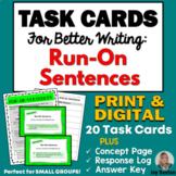 TASK CARDS for BETTER WRITING: Run-On Sentences