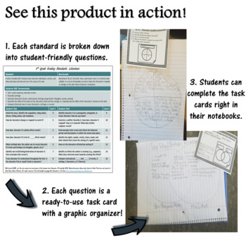 TASK CARDS for Common Core Reading Standards - Grade 7