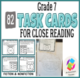 Grade 7 Task Cards for Common Core Close Reading: Fiction and Nonfiction