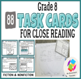 Grade 8 Task Cards for Common Core Close Reading: Fiction