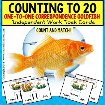 TASK CARDS for One To One Correspondence Counting To 20 fo