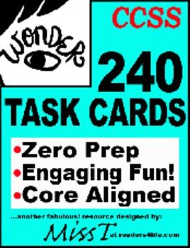 TASK CARDS for Wonder by R.J. Palacio