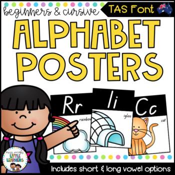 TASSIE Font Alphabet Posters {Beginners & Cursive}