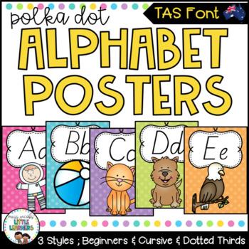 TASSIE Font Alphabet Posters {Polka Dot}