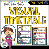 TASSIE Font Visual Daily Timetable {Polka Dot}