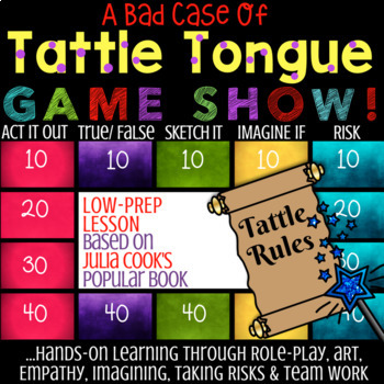 TATTLE TONGUE by Julia Cook: Tattling vs Telling School Counseling Lesson & Game