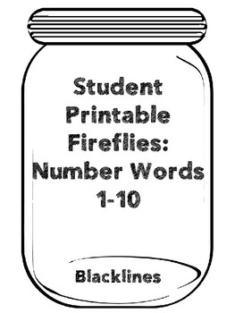TAV: Fireflies Number Words 1-10