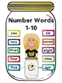 TAV: Fireflies Number Words 1-10-Editable