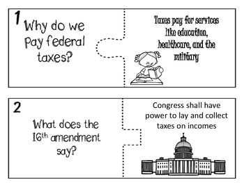 TAX DAY -Piece -IT   puzzle - MAIN IDEA and supporting details