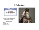 TAXES: Si Robertson Tax Return