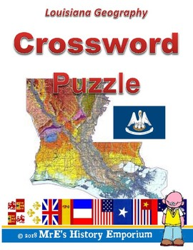 LOUISIANA Louisiana Geography Crossword Puzzle