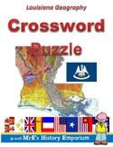 LOUISIANA Louisiana Geography Crossword Puzzle
