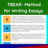 TBEAR- Method for Writing Essays