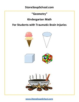 TBI Traumatic Brain Injuries - Geometry -  Common Core K Students