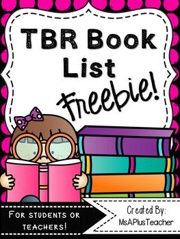 TBR Book List Freebie